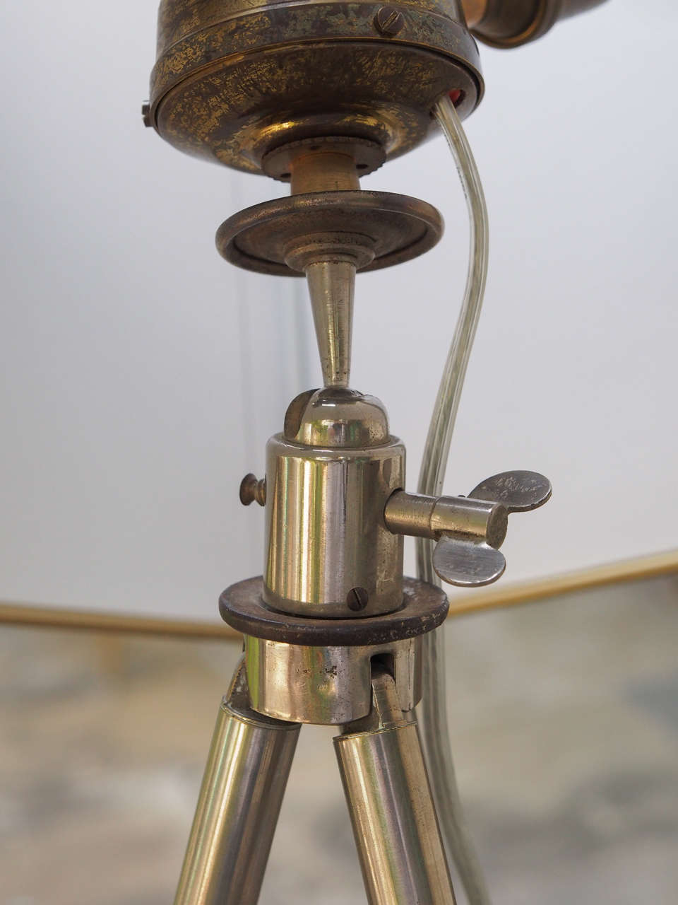 Curious French Art Deco Nickel-Plated Telescoping Lamp 5