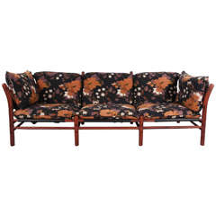 Arne Norell Ilona Three Seat Ilona Sofa in Floral Fabric
