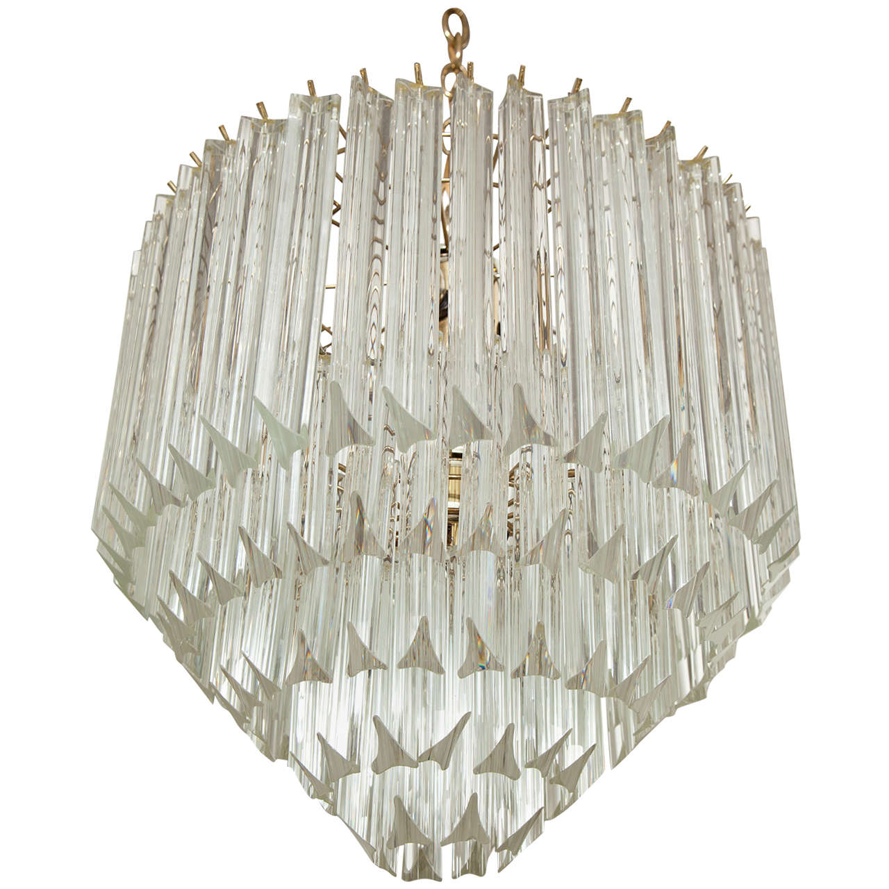 Camer glass chandeliers and pendants 71 for sale at 1stdibs five tier crystal prism chandelierflush mount by camer mozeypictures Choice Image