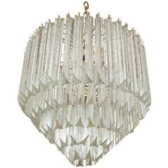 Five-Tier Crystal Prism Chandelier/Flush Mount by Camer