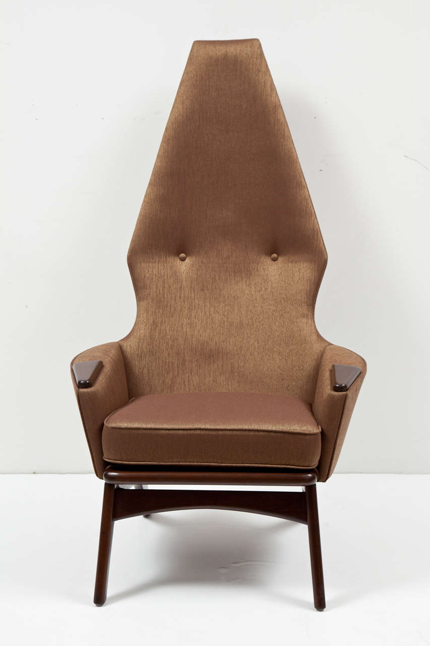 Pair of High Back Lounge Chairs by Adrian Pearsall 2
