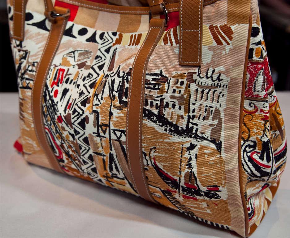 Prada Limited Edition Venetian Scene Tote Bag* presented by funkyfinders 7