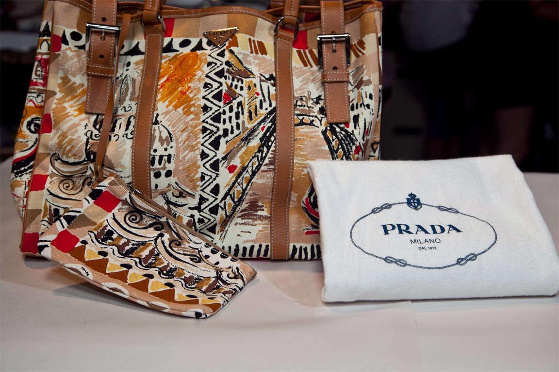 Prada Limited Edition Venetian Scene Tote Bag* presented by funkyfinders 8