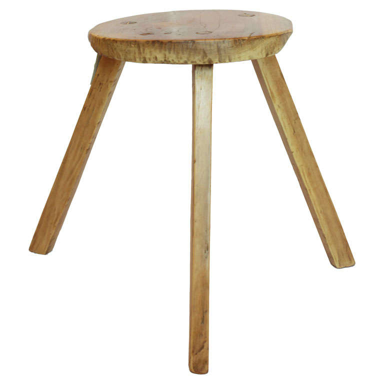 3 Legged Milking Stool At 1stdibs