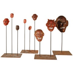 18th Century Collection of Japanese Masks