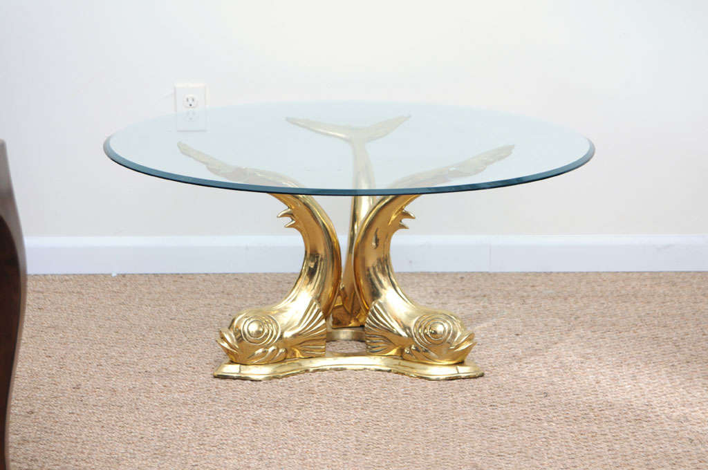 Brass Dolphin Coffee Table 2