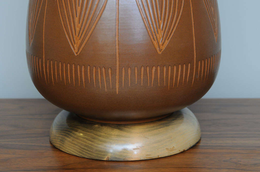 Mid-Century Modern George Nobuyuki Kimura Pottery Table Lamp For Sale