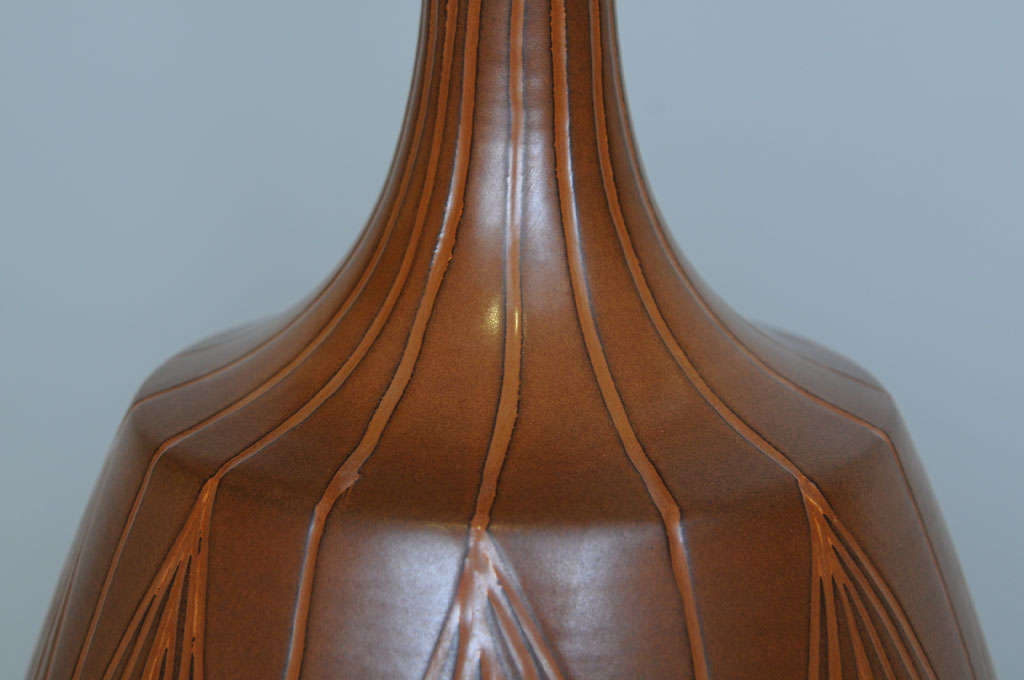 Mid-20th Century George Nobuyuki Kimura Pottery Table Lamp For Sale