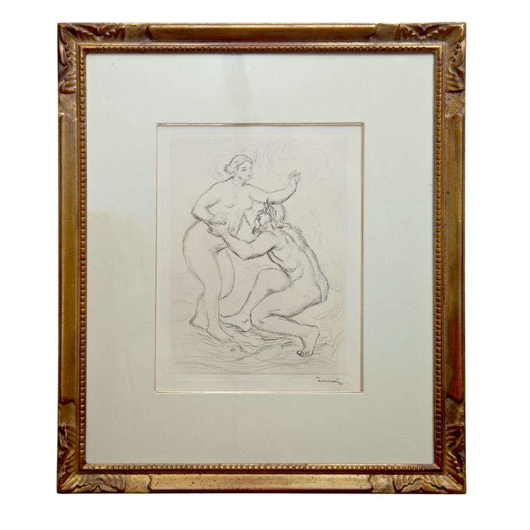 Auguste Renoir Quot Le Fleuve Scamandre Quot Etching On Wove Paper