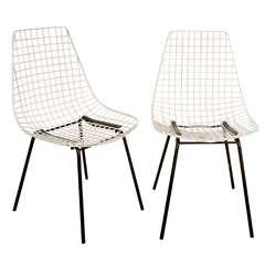 Pair of Metal Mesh Chairs