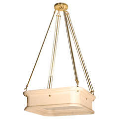 Paul Marra Boch Chandelier in Distressed Natural