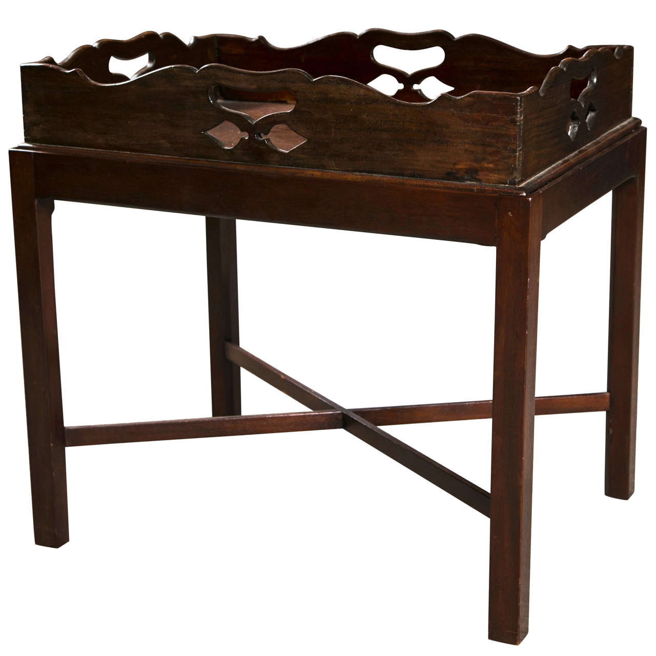 Mahogany Butlers Tray Table, late 19th C., England