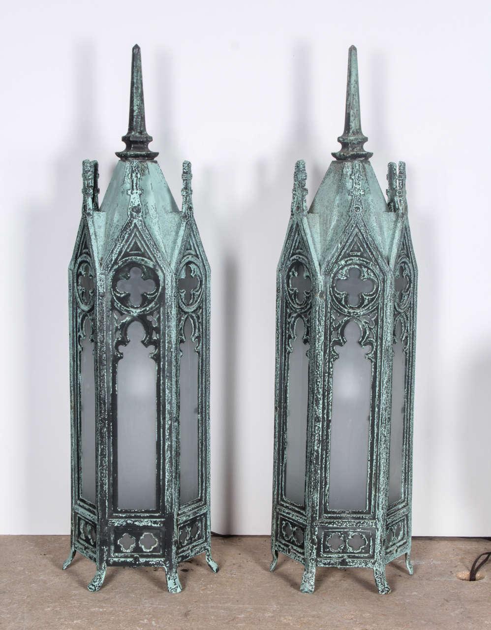 Bronze Gothic Lamps 2