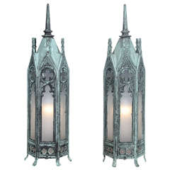 Bronze Gothic Lamps