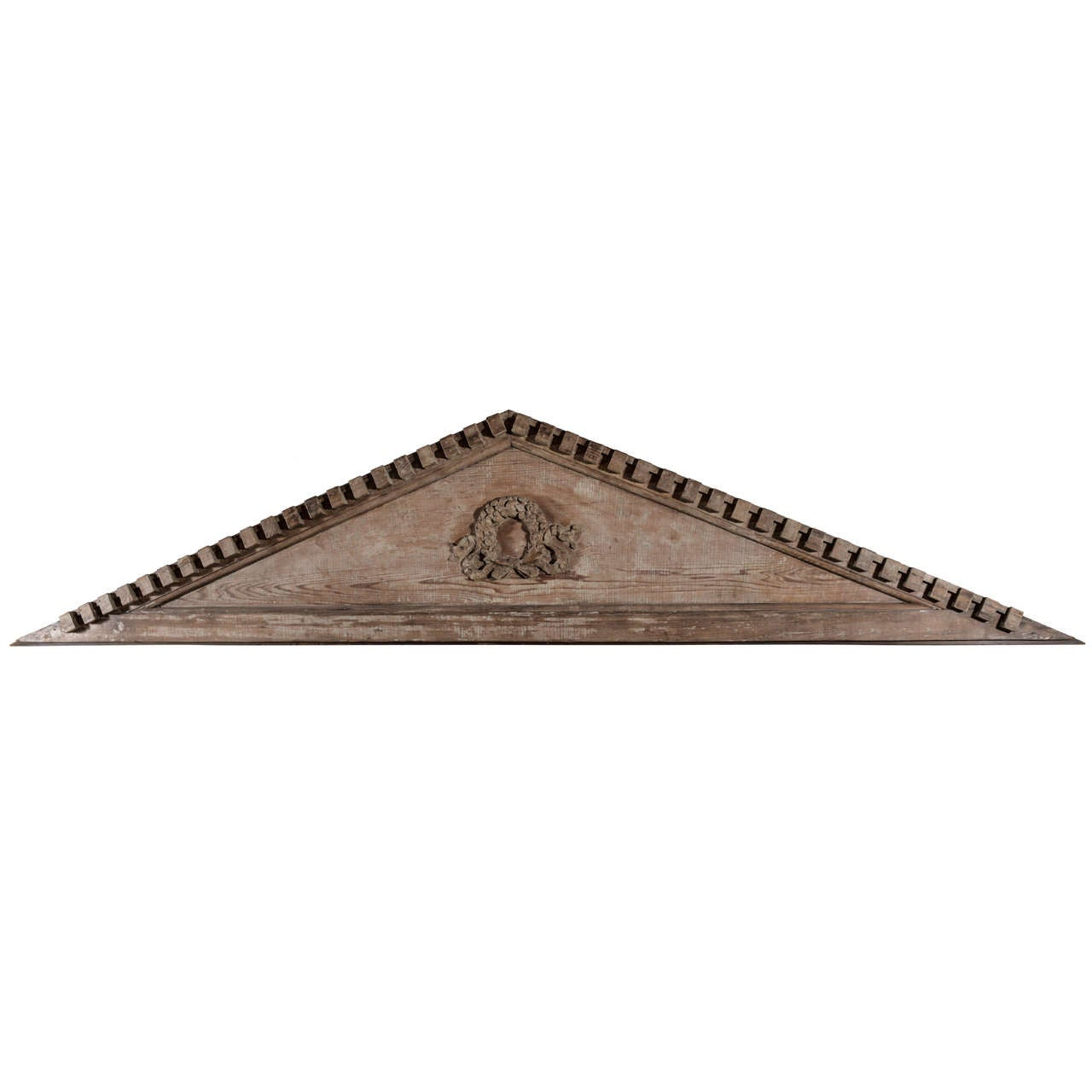 Large scale 19th century carved pine gable at 1stdibs for Gable pediments for sale