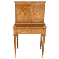 19th Century French Satinwood Writing Desk