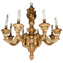 French Style Giltwood Chandelier