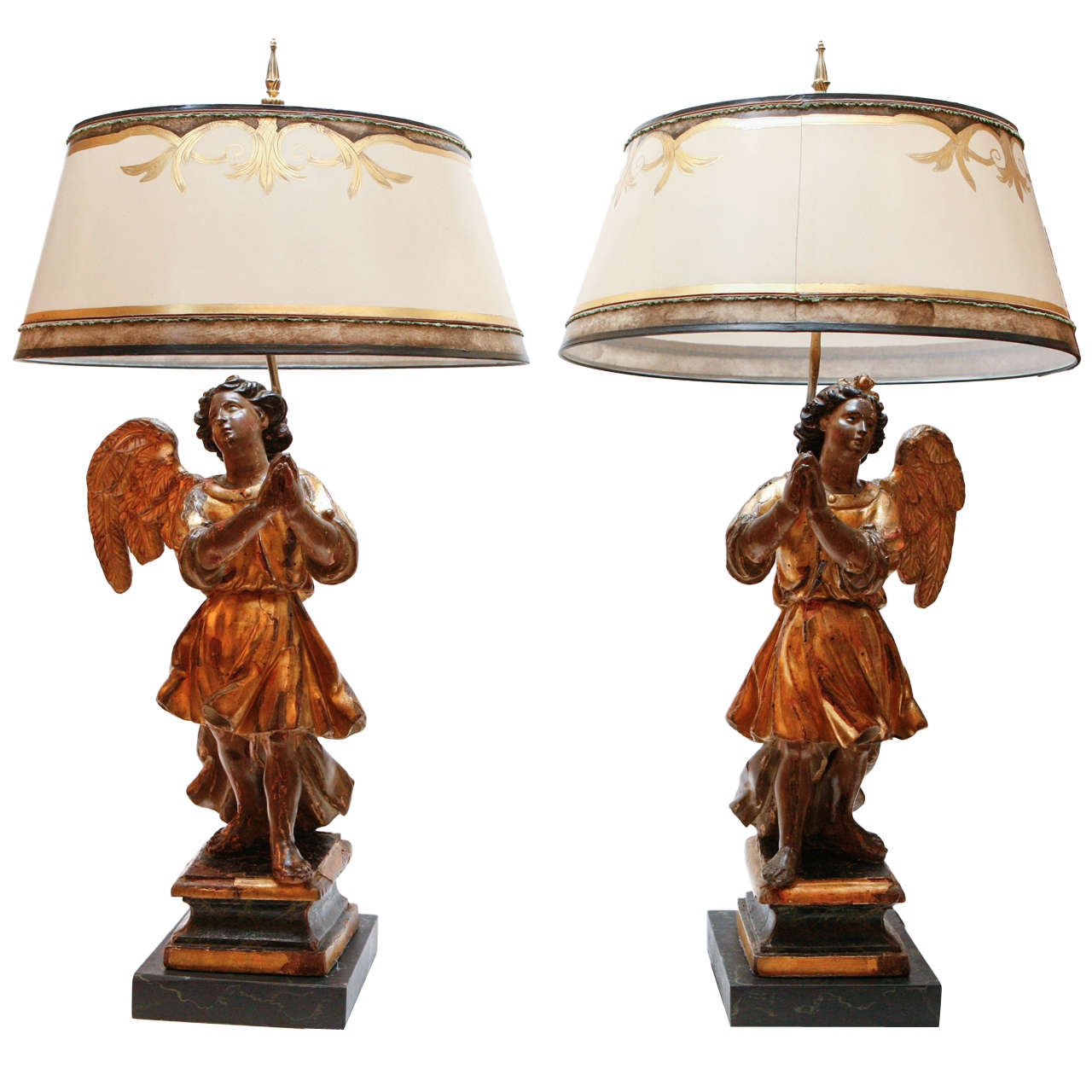 Delightful Italian Angel Lamps For Sale
