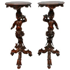 Pair of 19th Century Italian Moor Pedestals