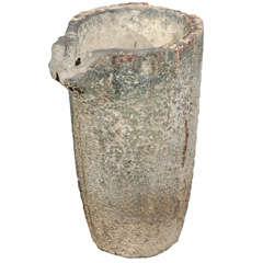 19th Century Stone Slag Pot
