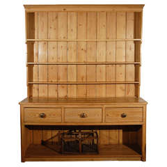 Larger Pine Dresser with Drawers and  Open Shelves