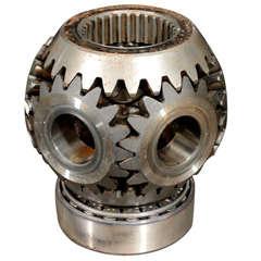 Machinist Made Industrial Gear Sculpture