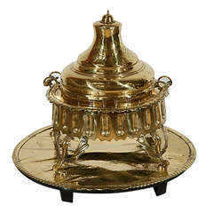 Middle Eastern Polished Brass Incense Burner