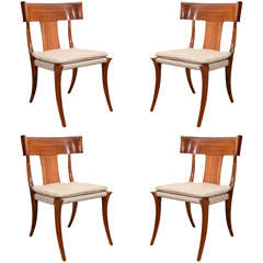 "Fine Set of Four Klismos ""Athens"" Chairs by Stewart MacDougall"