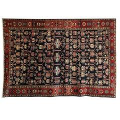 1910 Butterfly Design Bibibaft Bakhtiari Rug with Handspun Wool and Vetegal Dyes