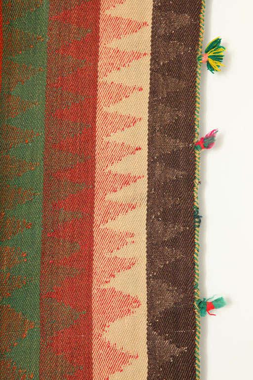 Early 20th Century 1920 Persian Jajim Carpet in Pure Handspun Wool and Organic Vegetal Dyes For Sale