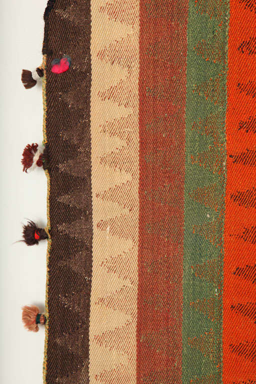 1920 Persian Jajim Carpet in Pure Handspun Wool and Organic Vegetal Dyes For Sale 2