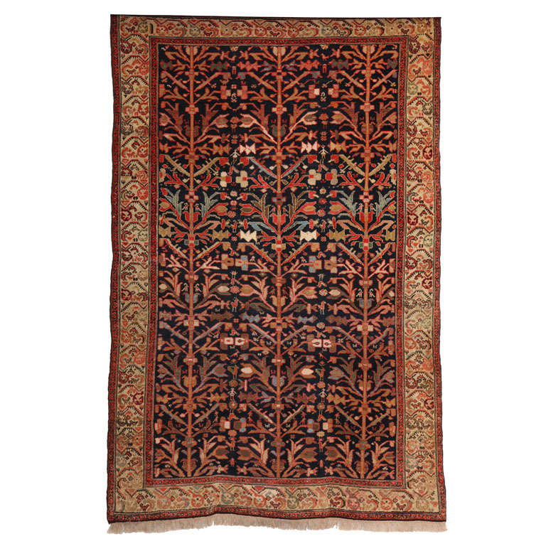 1900-1910 Persian Malayer Rug with Tree of Life Design
