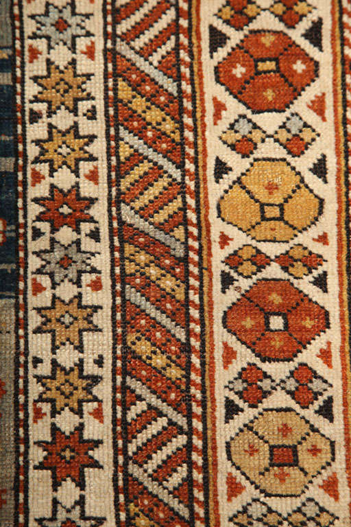 1880s Shirvan Rug in Pure Handspun Wool with Organic Vegetable Dyes 1