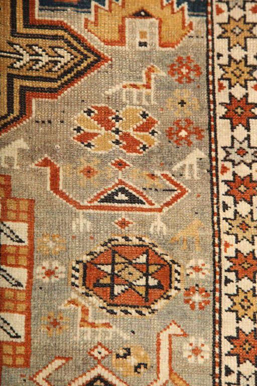 1880s Shirvan Rug in Pure Handspun Wool with Organic Vegetable Dyes 2