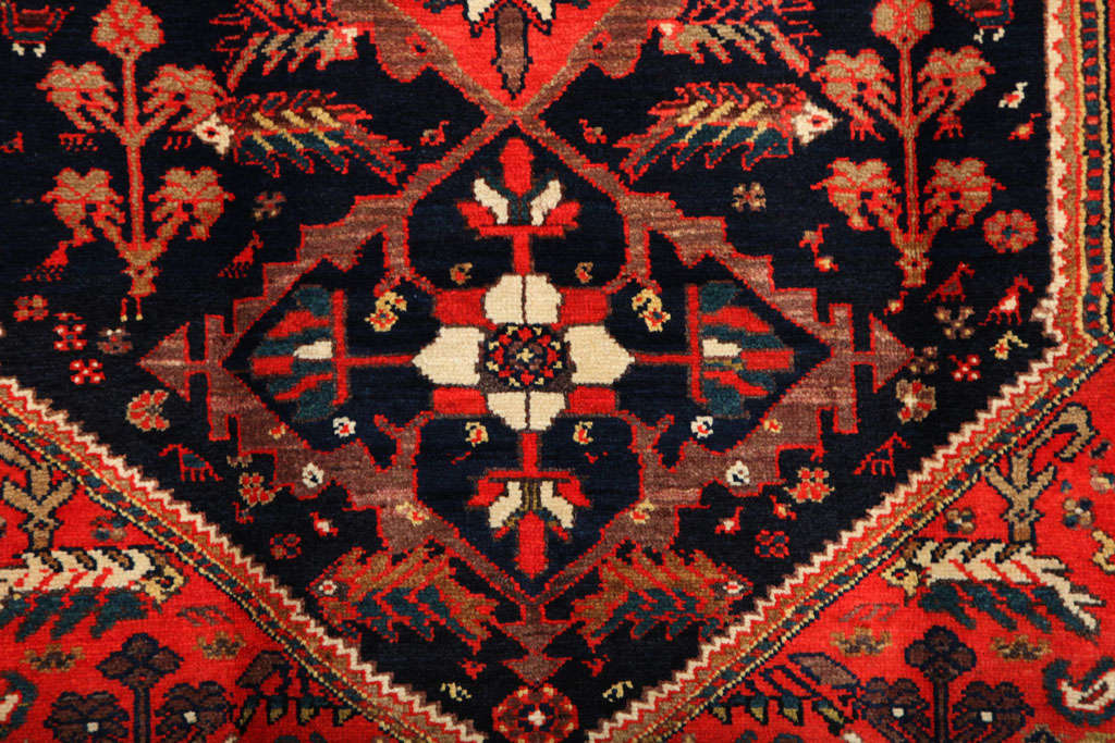1900-1910 Persian Mishan Malayer Rug with Handspun Wool and Organic Vegetal Dyes In Excellent Condition For Sale In New York, NY