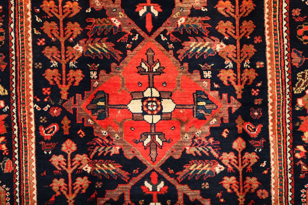 20th Century 1900-1910 Persian Mishan Malayer Rug with Handspun Wool and Organic Vegetal Dyes For Sale