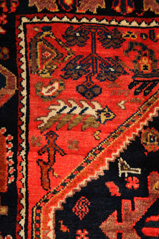 1900-1910 Persian Mishan Malayer Rug with Handspun Wool and Organic Vegetal Dyes For Sale 2