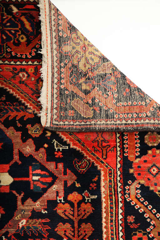 1900-1910 Persian Mishan Malayer Rug with Handspun Wool and Organic Vegetal Dyes For Sale 5