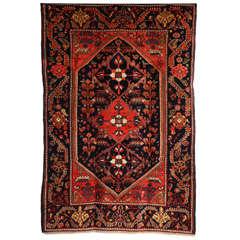 1900-1910 Persian Mishan Malayer Rug with Handspun Wool and Organic Vegetal Dyes