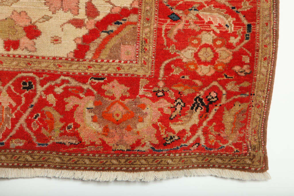 1870-1880 Persian Mishan Malayer Rug in Handspun Wool and Organic Vegetable Dyes For Sale 4