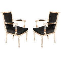 A  pair of French  Arm Chairs Stamped Jansen