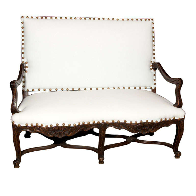English Georgian Style Carved Settee At 1stdibs