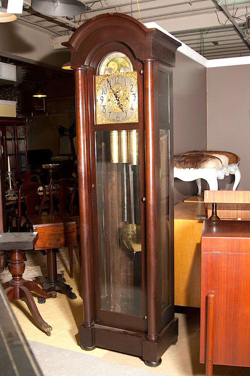 Georgian Style Mahogany Herschede Grandfather Clock