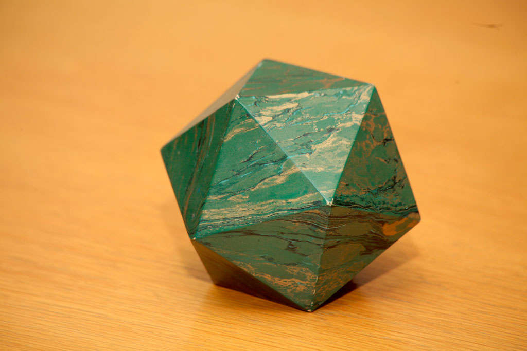 Mid-20th Century A Marblized Polyhedron Weight