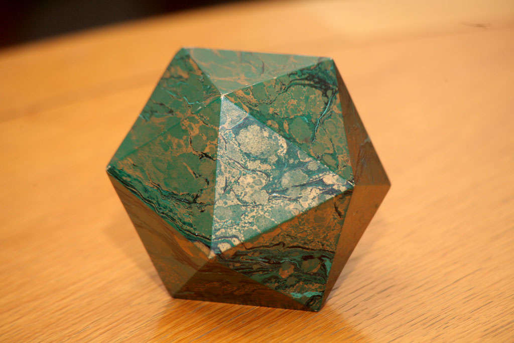 Wood A Marblized Polyhedron Weight