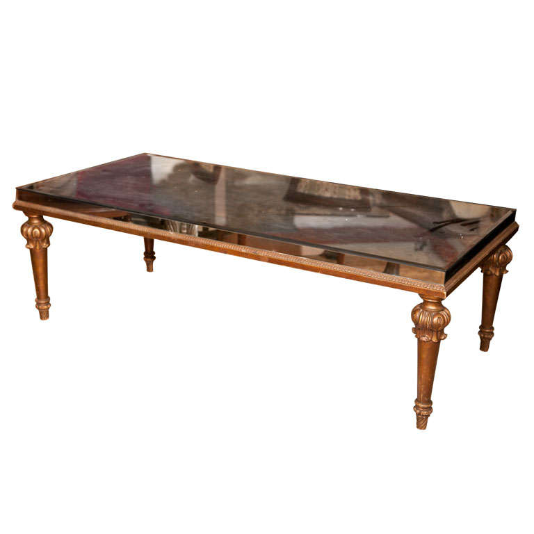 French Louis Xvi Style Coffee Table By Jansen At 1stdibs