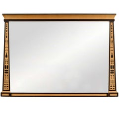 Egyptian Revival Overmantel Mirror