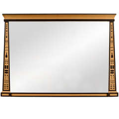 Egyptian Revival Overmantel Mirror