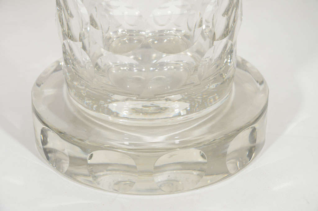 Rare and Refined Art Deco Crystal Vase by Jean Luce, French, circa 1930 7