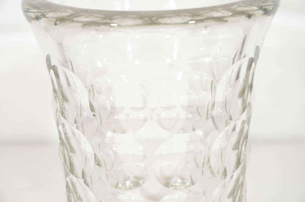 Rare and Refined Art Deco Crystal Vase by Jean Luce, French, circa 1930 3